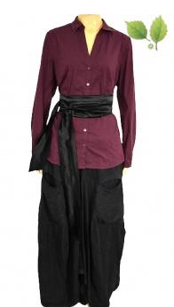 S'Oliwer elegancka bakłażanowa biznesowa koszula M L
