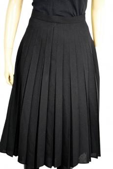 Diolen plisowana spódnica midi vintage z domieszką wełny S M