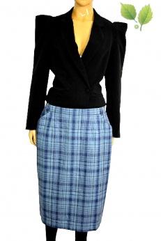 Catherina Helfer spódnica midi vintage z wełną i jedwabiem L