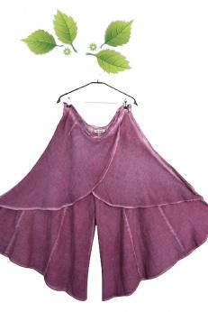 Unikatowe szerokie alladynki spódnico-spodnie z zakładkami większy rozmiar