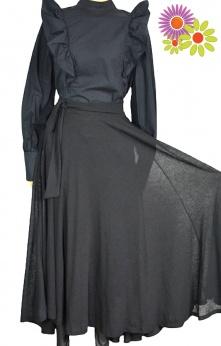 Piękna długa elegancka rozkloszowana spódnica S M L
