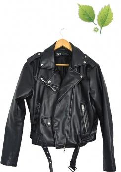 Zara krótka skórzana ramoneska biker L