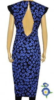 Perełka Vintage sukienka midi vintage lata 70 80 M