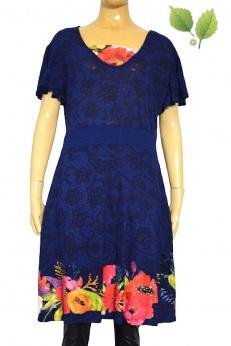Desigual granatowa wzorzysta sukienka L