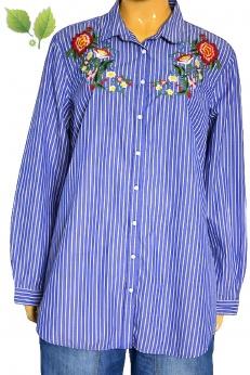 Luźna długa koszula z haftami S M L XL