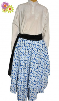 Zjawiskowa warstwowa asymetryczna spódnica midi M L XL
