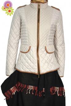 Jesienna krótka pikowana ocieplana kurtka S